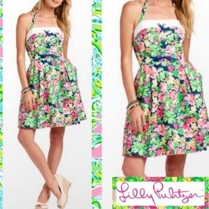 NWT Lilly Pulitzer Toni Floral Halter Dress